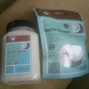 Bolero coconut oil & Sea Salt soak and bombs